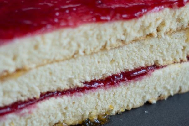 sponge cake stack